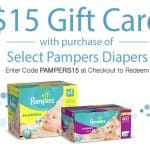 $15 Gift Card with Purchase of Select Pampers Diapers