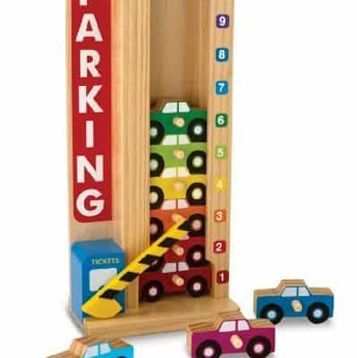 Save 27% on the Melissa & Doug Stack & Count Parking Garage, Free Shipping Eligible!