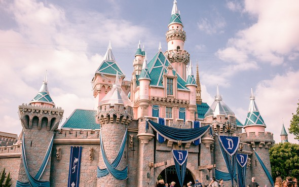 disneyland castle 60th year decorations