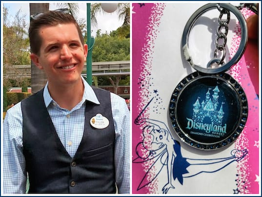 disneyland diamond celebration keychain