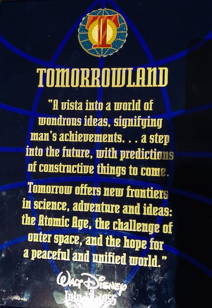 walt disney's tomorrowland dedication speech