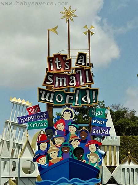 its a small world disneyland ride entrance sign