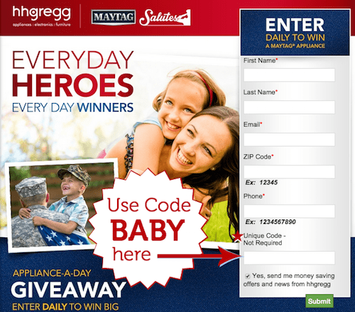maytag sweepstakes code