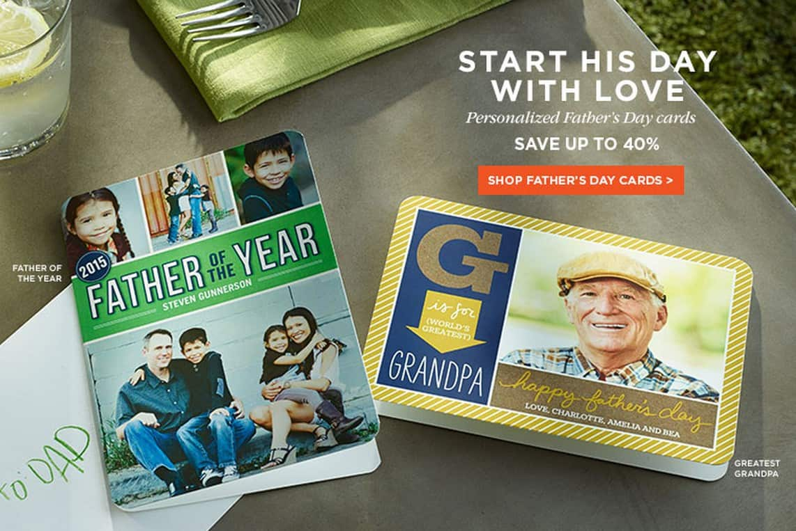 Shutterfly Promo Code: FREE Father's Day Card!