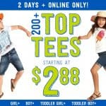 Crazy8 Online Deal: Tops and Tees only $2.88! Plus Everything is $9.99 or Under!