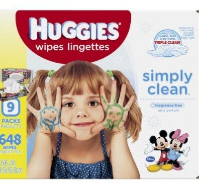 648 Huggies Simply Clean Baby Wipes only $8.39, Free Shipping Eligible!