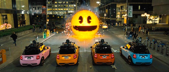 pixels pac man ghost cars