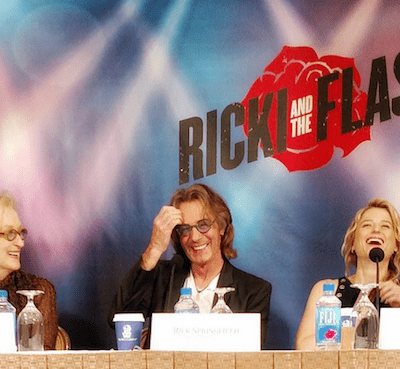 Interviewing Meryl Streep, Rick Springfield and Mamie Gummer for RICKI AND THE FLASH