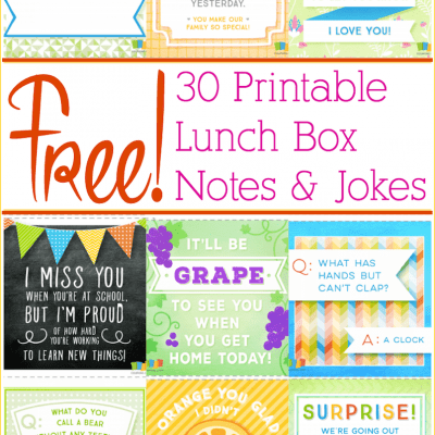 Free Printable Lunch Box Notes!