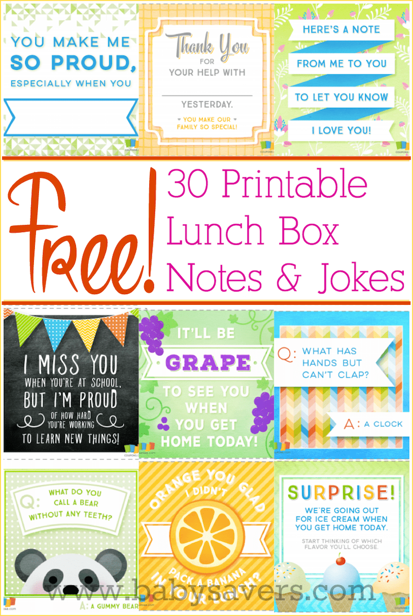 photo regarding Lunch Box Jokes Printable referred to as Totally free printable lunch box notes and jokes for all ages!