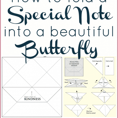 How to Make an Origami Butterfly Note and Other Disney Cinderella Activities!