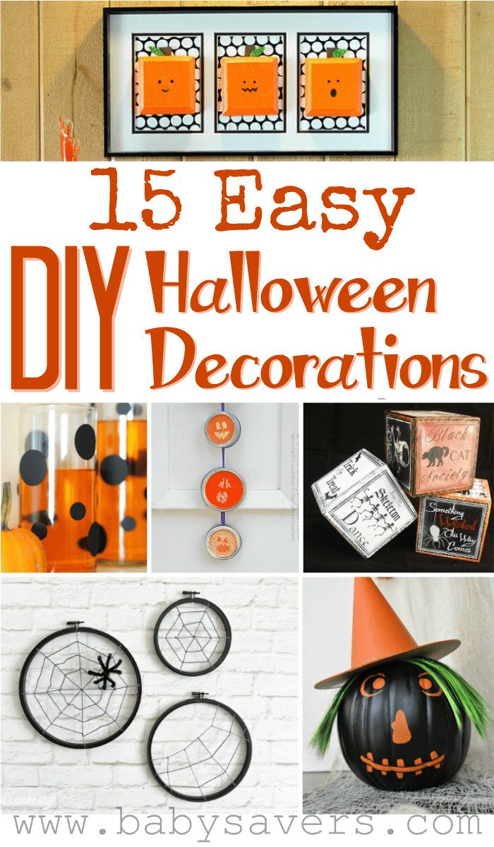 Make your own Halloween decorations