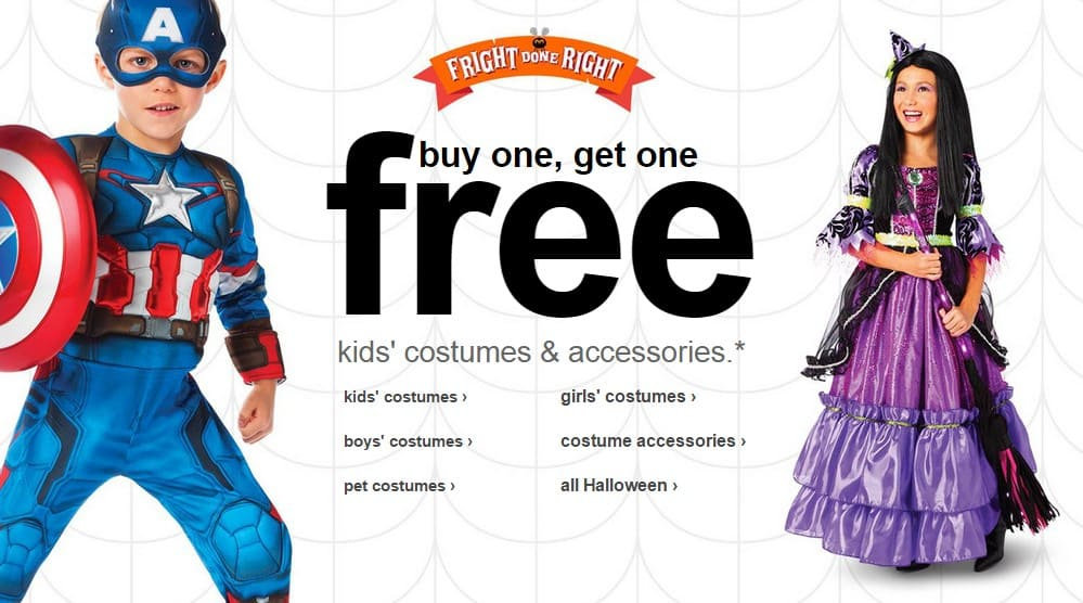 Target Online Deal: Buy One Get One FREE Halloween Costumes and ...
