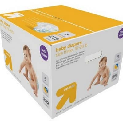 Target Online Diaper Deal: FREE $10 Gift Card with up & up Diaper Purchase!
