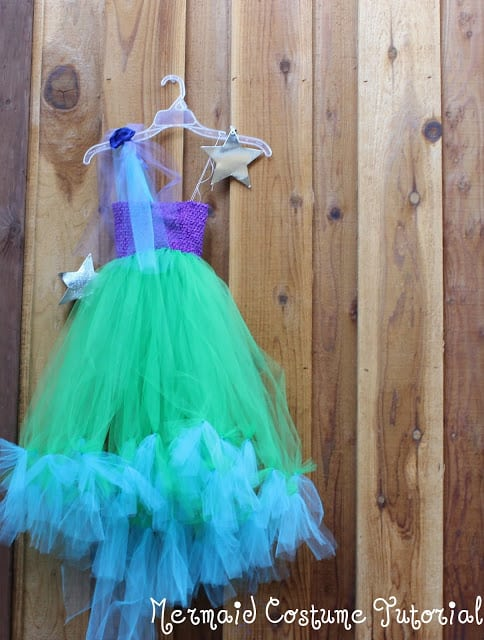 how to make a mermaid costume with a tutu