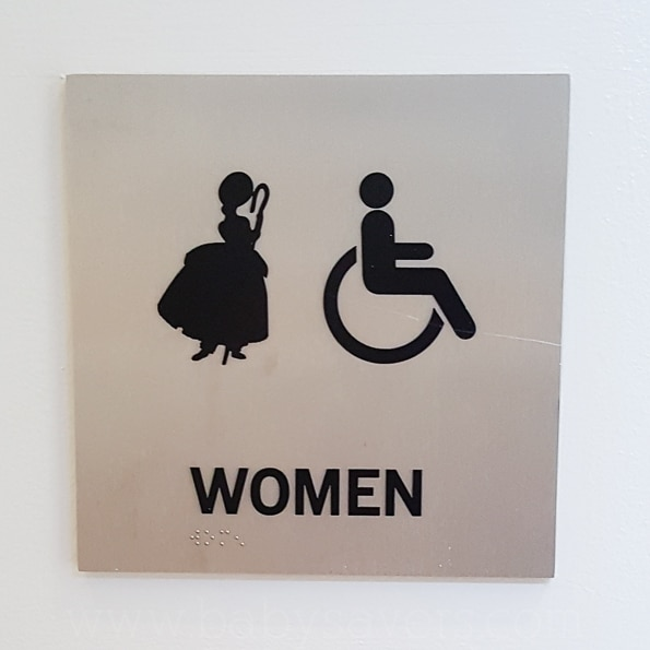 Pixar Animation Studios bathroom signs