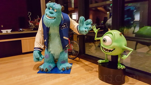 Pixar Animation Studios Monsters Inc University statues