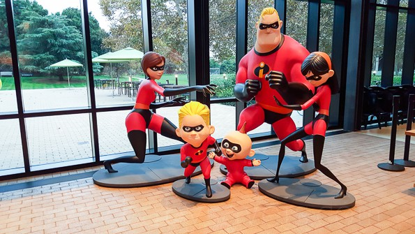 Pixar Animation Studios The Incredibles family