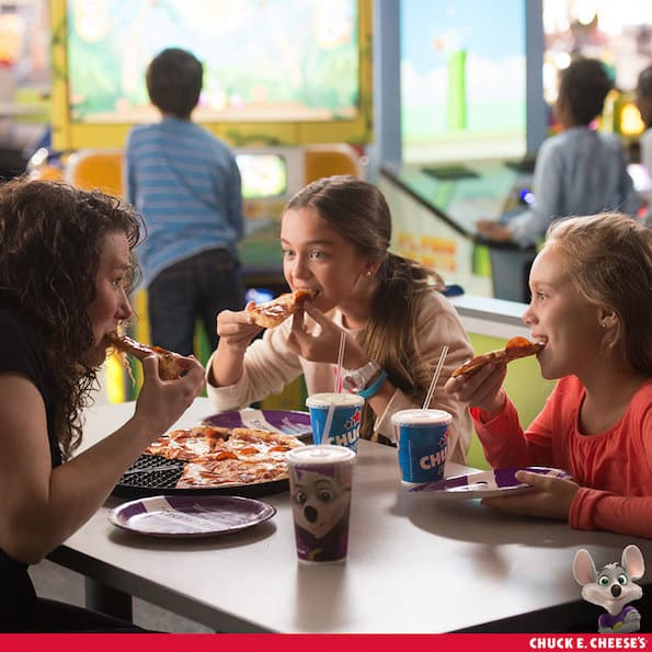 Chuck E. Cheese's menu
