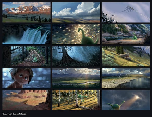 The Good Dinosaur Color Scripts