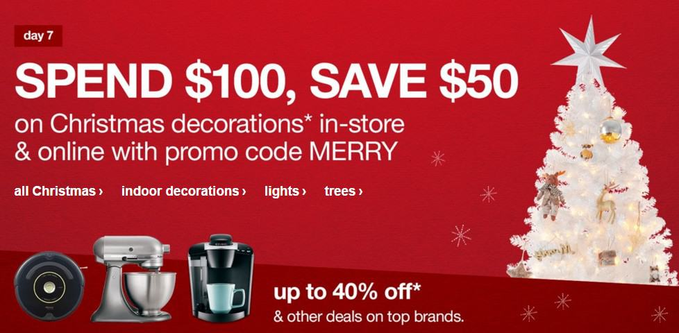 target online deal 50 off 100 holiday shop purchase - How Late Is Target Open On Christmas Eve