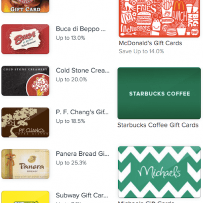 best discount gift cards
