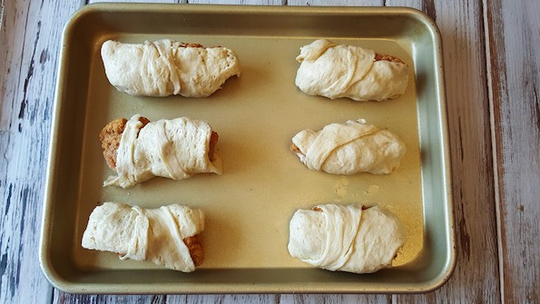 crescent roll wrapped chicken strips
