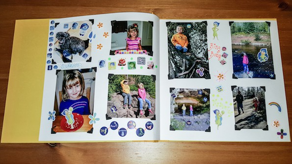 how to make an Inside Out scrapbook with Inside Out printables