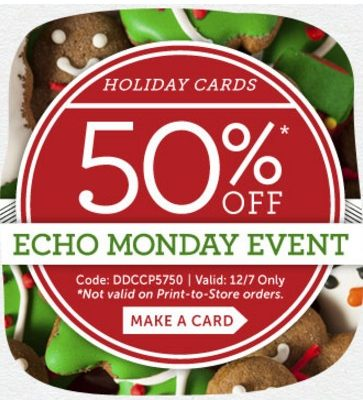 Cardstore Promo Code: 50% off Holiday Cards! Today Only!