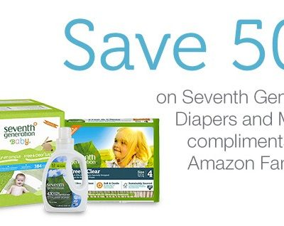 Save 50% on select Seventh Generation Diapers, Wipes and Household Products, Free Shipping Eligible!