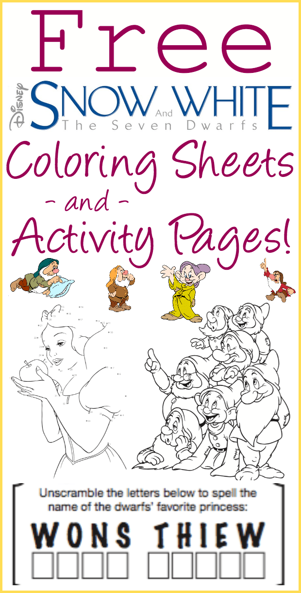 Free Printable Snow White Coloring Pages And Activity Sheets