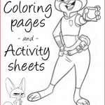 FREE Printable ZOOTOPIA Coloring Sheets and Activity Pages