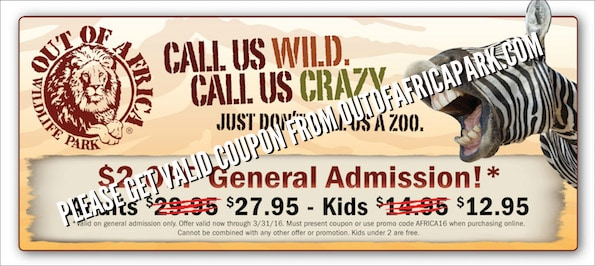 Yorkshire wildlife park discount coupons