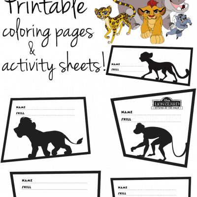 Free Printable THE LION GUARD Coloring Pages and Activity Sheets!