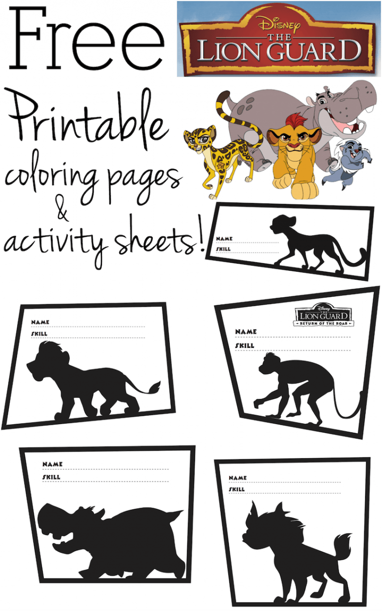 Free Printable The Lion Guard Coloring Pages And Activity Sheets
