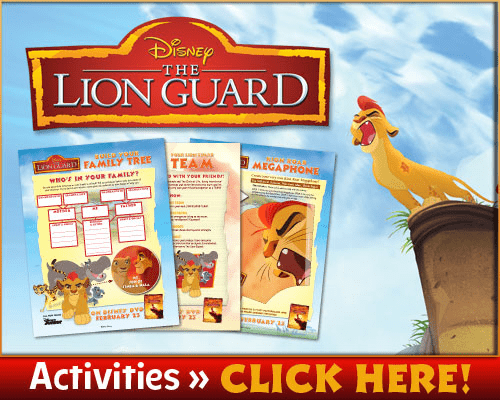 The Lion Guard coloring pages and activity sheets