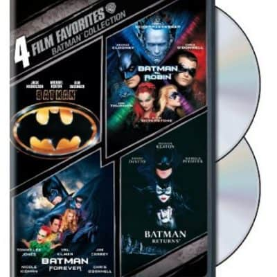 Save 40% on the Batman Collection (4-Movies in 1 DVD), Free Shipping Eligible! {Perfect Father's Day Gift}
