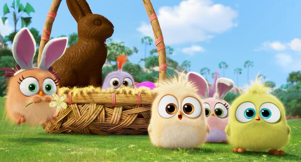 Hatchlings from Columbia Pictures and Rovio Animation's ANGRY BIRDS having some Easter fun.
