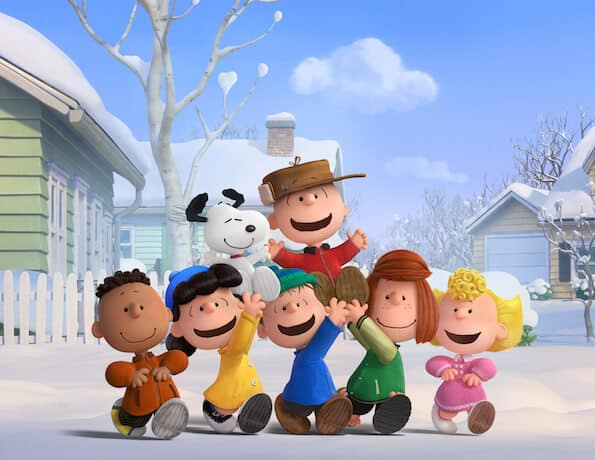 the peanuts gang in the peanuts movie