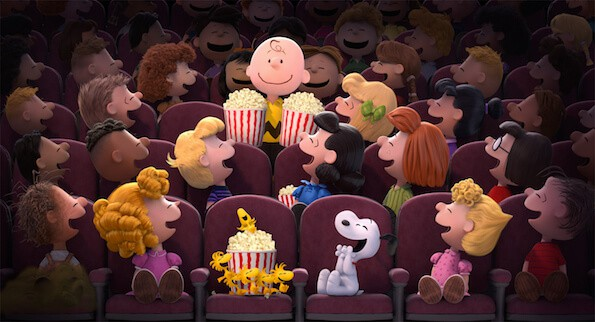 The Peanuts Movie theater