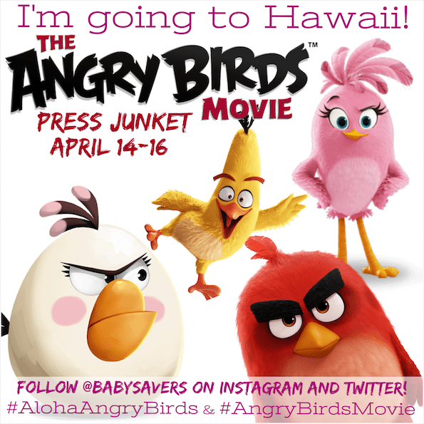 Angry birds movie blogger press junket