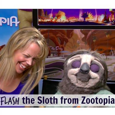 An Exclusive Interview With FLASH the Sloth from Zootopia