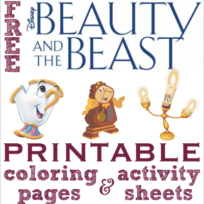 beauty and the beast coloring pages activity sheets