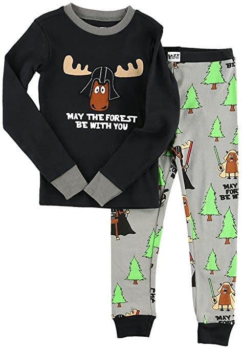 Christmas Family Pajamas May the Forest Be With You