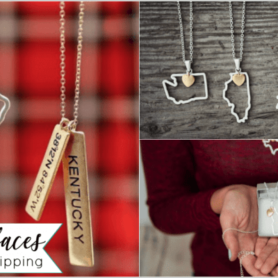 state necklaces silver gold