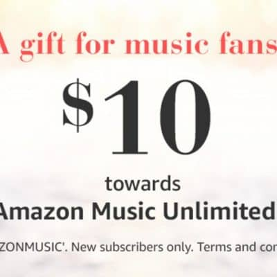 FREE $10 Amazon Music Unlimited Credit