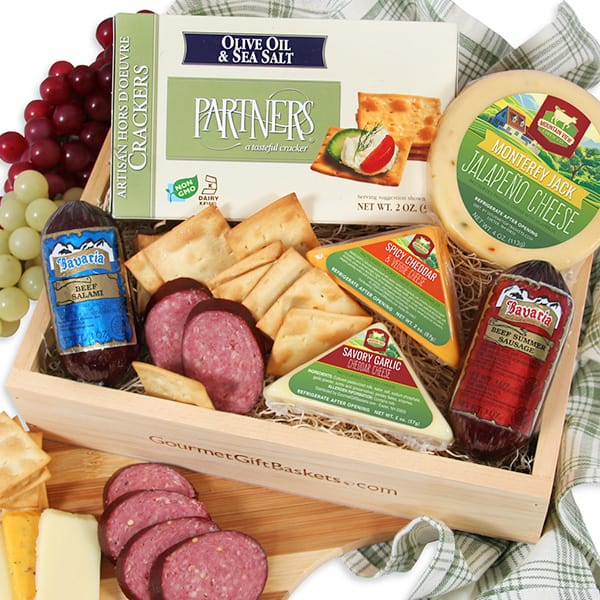 Gourmet Meat and Cheese Sampler - Last Minute Gifts With ...