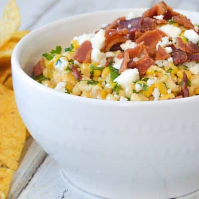 Mexican Street Corn Dip Recipe with Crisp Bacon + Game Day Homegating