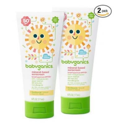 Babyganics Baby Sunscreen 2-Pack only $3.80, Free Shipping Eligible!