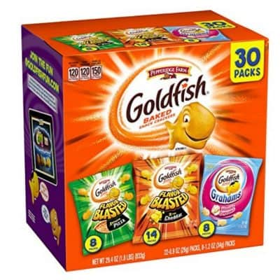 Amazon Coupon Deal: Pepperidge Farm Goldfish Variety Pack (30 Packs) only $7.48, Free Shipping!